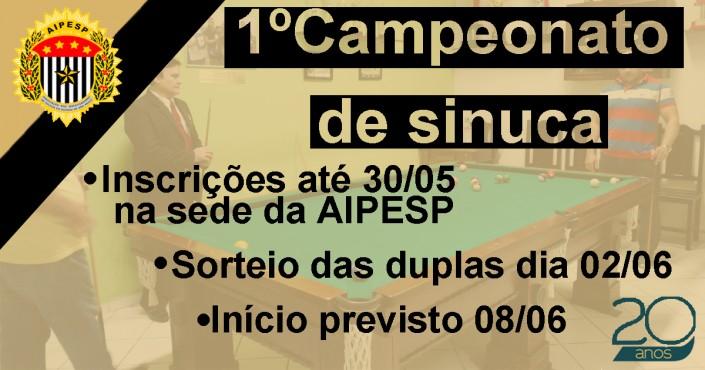 1º Campeonato de Sinuca da AIPESP