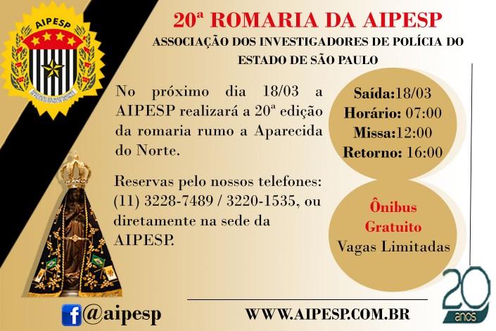 20ª ROMARIA DA AIPESP