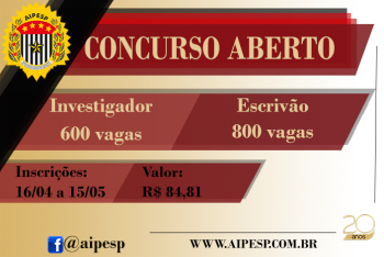 CONCURSO PARA INVESTIGADOR E ESCRIVÃO