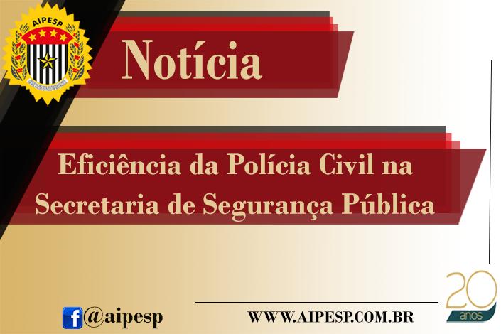 EFICIÊNCIA DA POLÍCIA CIVIL NA SECRETARIA DE SEGURANÇA PÚBLICA