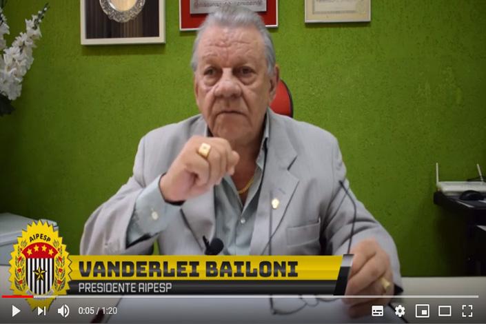 Entrevista do presidente, Vanderlei Bailoni para o CANAL AIPESP