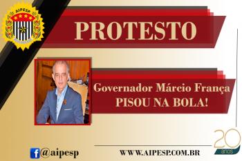 GOVERNADOR MÁRCIO FRANÇA PISOU NA BOLA