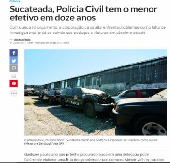 VEJA DENUNCIA SUCATEAMENTO DA POLÍCIA CIVIL